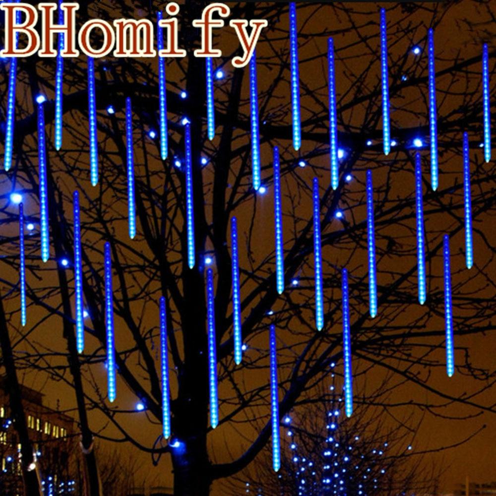 50cm 30cm 20cm impermeável chuva de meteoros tubos led lâmpada de luz ue eua 110-240 v natal luz casamento decoração do jardim natal