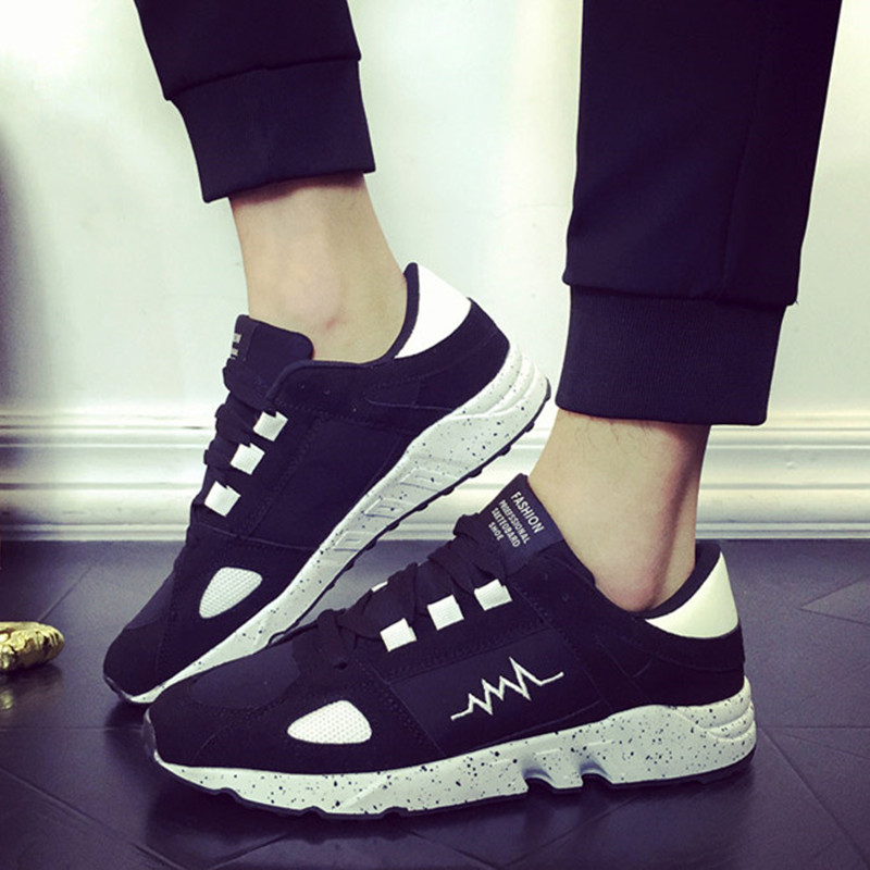 2016 Mens Casual Shoes Plus Size Trendy Men Mesh Shoe Flats Outdoor Wear Lace Up Men's Zapatillas Deportivas Hombre