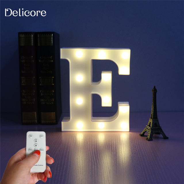 delicore letter e o alphabet lamp lovely marquee night light