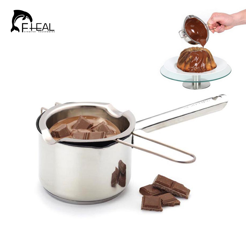 FHEAL Multi-functional 304 Material Stainless Steel Chocolate Butter Milk Melting Pot Chocolate Melted Tank Sugar Bowl Melt