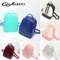 Gykaeo 2017 Summer Candy Jelly Silica Gel Women Backpacks Women Travel Bag students Backpack Brand Fashion individual Bucket Bag