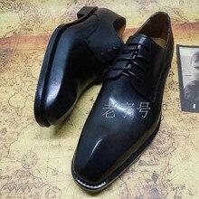 3bac12bc Sipriks importado italiano piel de becerro diseñador único Oxfords jefe  hombres vestido de negocios zapatos Derby