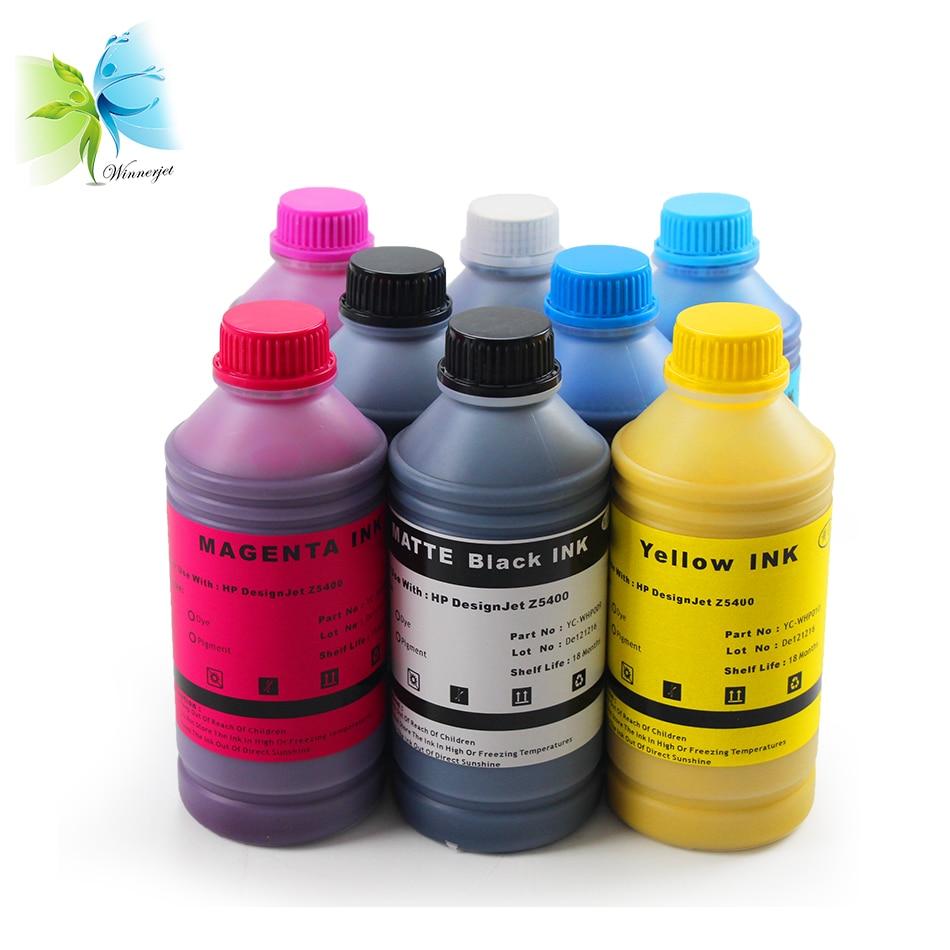 WINNERJET 1000 мл/бутылка * 8 цветов для hp 772 УФ сопротивление пигментные чернила для принтера hp Designjet Z5400