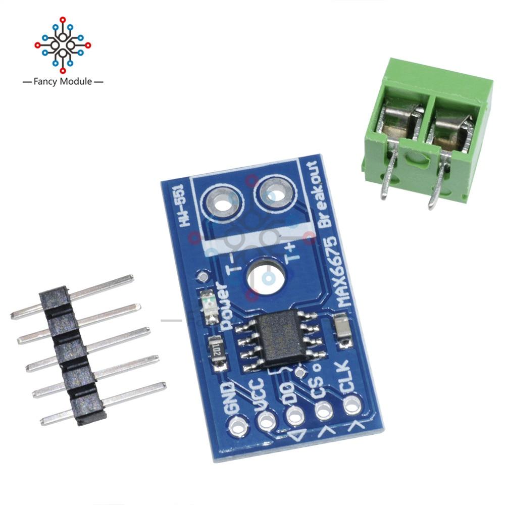 Arduino MAX6675 Thermocouple Temperature Sensor Module Type K SPI Interface