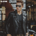 Men's pigskin Black Genuine Leather jacket motorcycle real leather jackets winter coat men