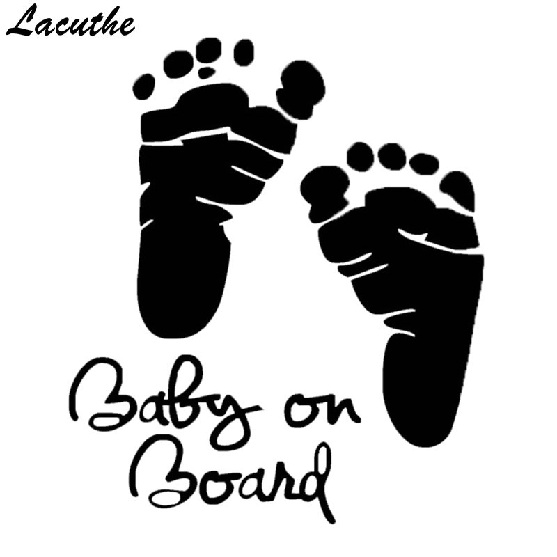 Automobiles & Motorcycles 16*13cm Baby On Board Baby Feet Rescue Vinyl Sticker For Car Window Decal Truck Bumper Wall Graphics Decor Style Case