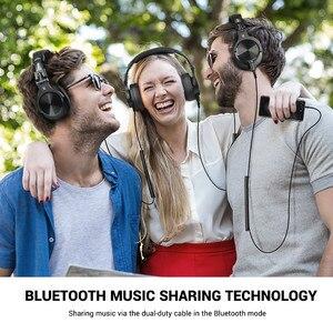 Image 5 - OneOdio A70 אלחוטי Bluetooth אוזניות על אוזן מקצועי סטודיו הקלטת צג Wired DJ אוזניות עם מיקרופון