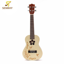 "Senrhy  23"" 4 Strings Concert Ukulele Uke Hawaii Rosewood Electric Guitar Guitarra For Musical Instruments Lovers Beginner"