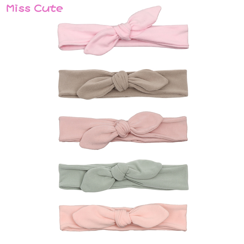 Newborn Headband Cotton Solid Bow For Girl Rabbit Ear Hairbands Turban Knot Headband Kids Accessoire Faixa Cabelo Para Bebe