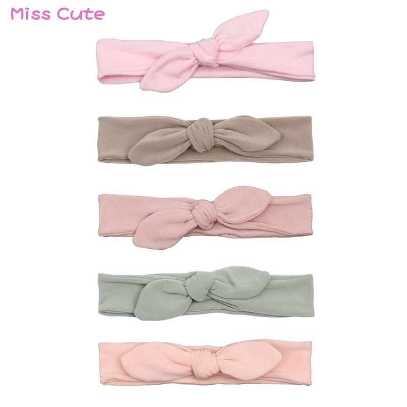 Newborn Headband Cotton Solid Bow For Girl Rabbit Ear Hairbands Turban Knot Headband Kids Accessoire Faixa Cabelo Para Bebe