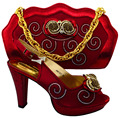 Wine Shoes and Bag To Match Italian African Shoes and Bag Set for Party In Women Italian Matching Shoe and Bag Set For MM10121