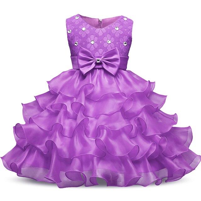 Summer Girl Party Dress For Wedding Diamonds Lace Baby Girls Christening Dress For 3 To 8 Years Children Kids Girl Birthday Gift