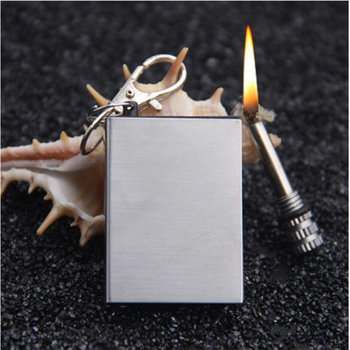 portable bottle shaped flint fire starter match lighter kit for outdoor no oil