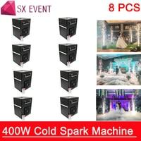 8pcs/lot Professional dmx stage cold spark fountain Spark Sparkler Pyro Pyrotechnics Fireworks Machine