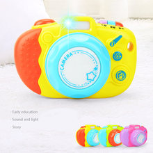 1pcs/set Mini Cute LED Luminous Sound Glowing Plastic Kids Toy Camera Puzzle Camera Toys for Childrens Girls Boys Gift Birthday(China)