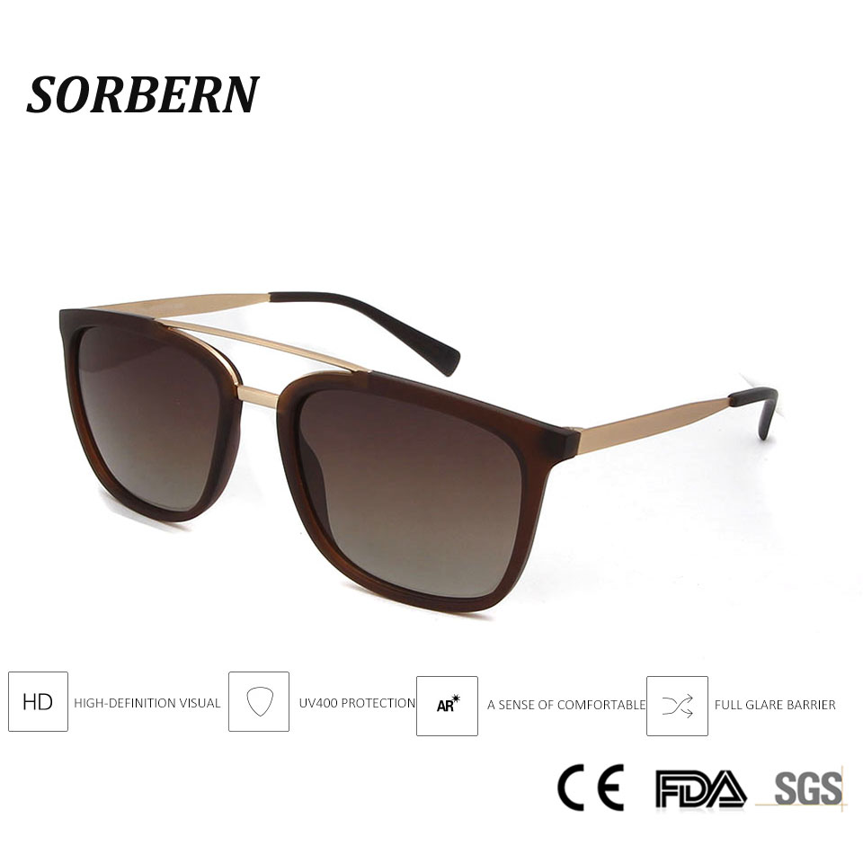 SORBERN 2019 Polarized Sunglasses Men Women Classic Retro Pilot Sun Glasses Brand Design Light TR90 Frames With Alloy Eyewear in Women 39 s Sunglasses from Apparel Accessories