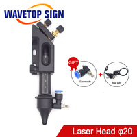 wavetopsign Co2 Laser Laser Head for Lens D20mm F50.8 Mirror 25mm for Laser Engraving Cutting Machine