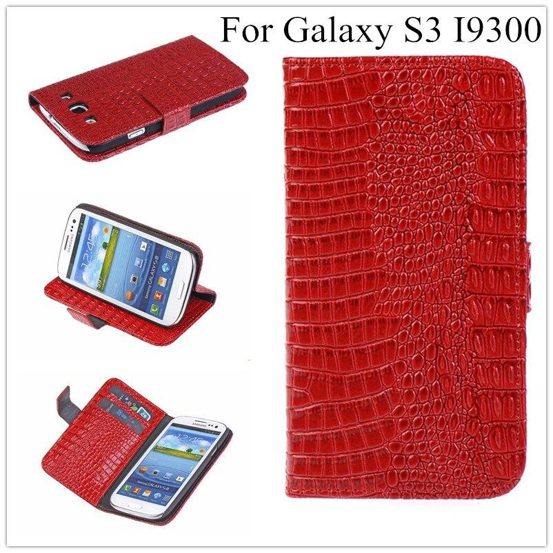 Luxus S3 Krokodil Leder-mappenkasten Für Samsung I9301 Galaxy S3 Neo S3 Duos...