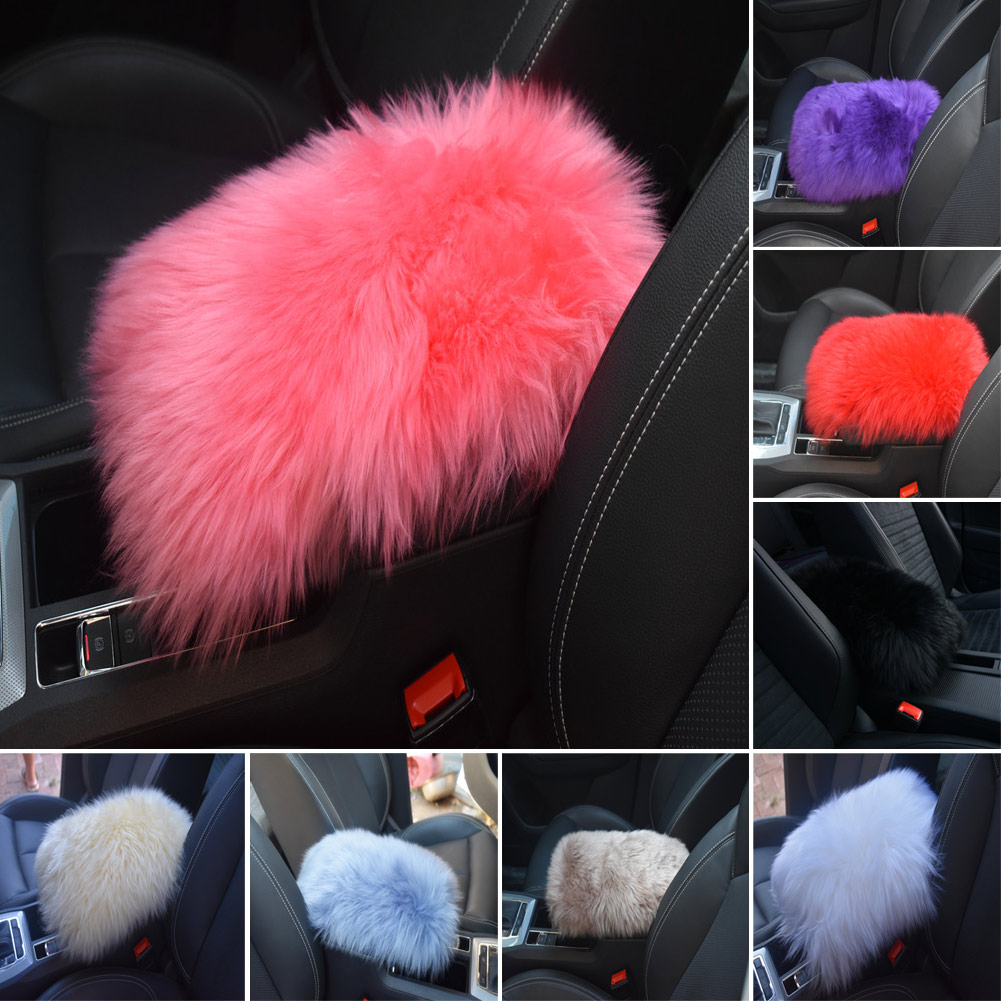 Automobiles & Motorcycles Hospitable Universal Warm Wool Car Armrest Console Pad Cover Soft Fluffy Arm Rest Seat Mat Auto Supplies M8617