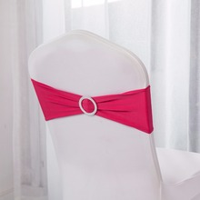 Chair Bands Party-Decoration Wedding Germany Buckle Lycra Spandex Stretch with for Sash