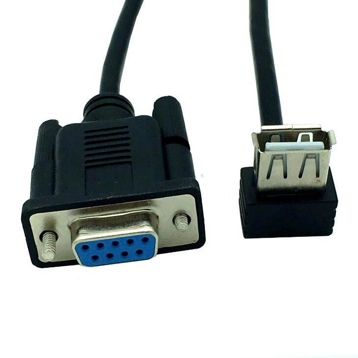 RS232 DB9 Female To USB 2.0 A Female Serial Cable Adapter Converter 8