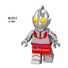 Single Cartoon Comic Alien Saint Seiya movie Action Figure Model Collection Ultraman building block toy for children(China)