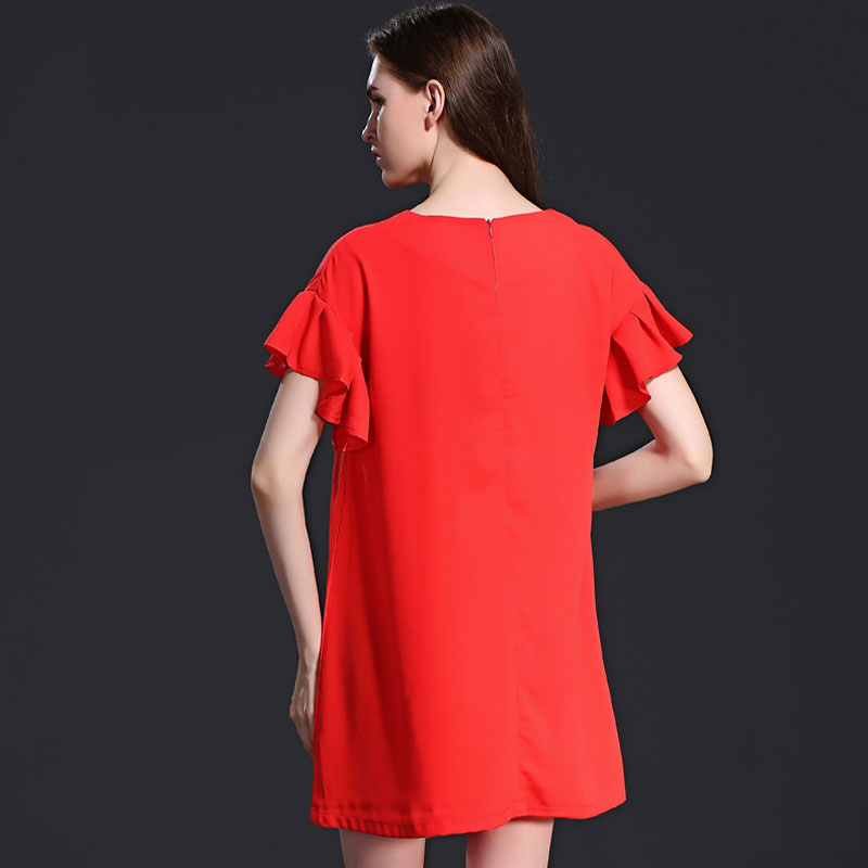 HEE GRAND New Arrival Cute Women Mini Dresses Fashion Women Solid Dress  Long Blouse Simple Style Plus Size Women Clothes WQS1813-in Dresses from  Women s ... a713e888302c