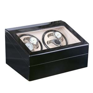 Case-Holder Jewelry-Winder-Box Winders Watch-Display Mechanical-Watch Automatic 4 Black