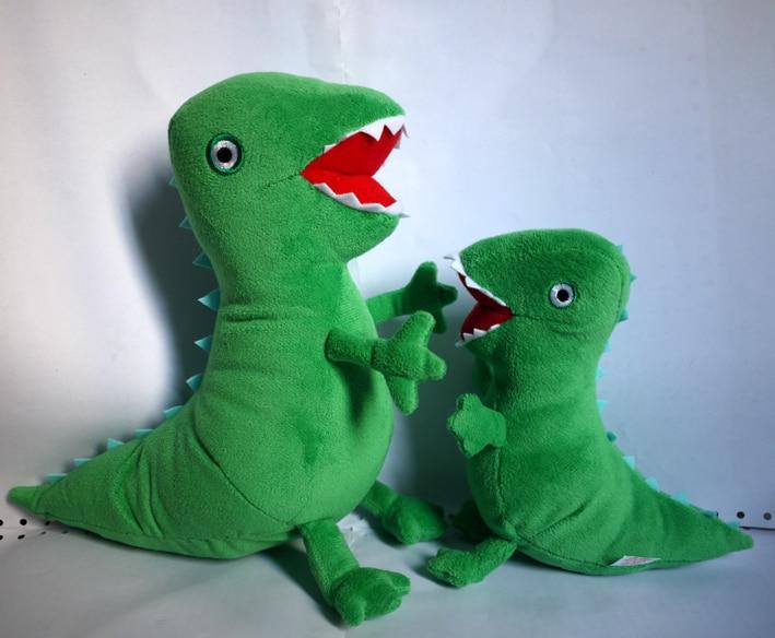 Brezplačna dostava plišasta igračka lutka dinozavra 17cm velikost 10pcs / lot zelena plišasta igračka dinozavra