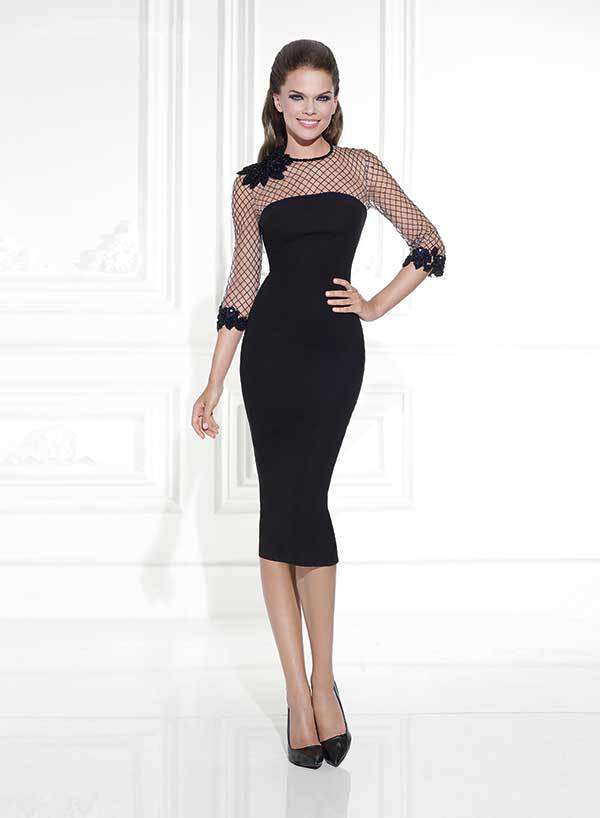 knee length black dress with sleeves   Gommap Blog