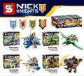 SY717 4Pcs/set Nexus Knights Building Blocks blockset ULTIMATE Clay Macy Beast Master Lavaria Compatible with Leg