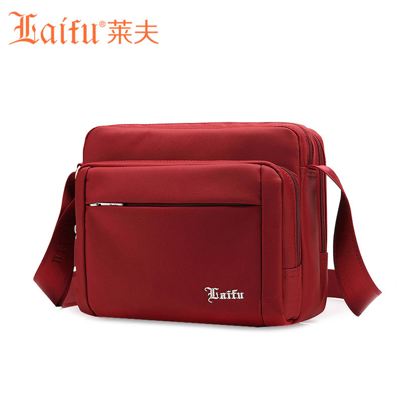 Laifu Women Nylon Messenger Bag Shoulder Bag Multi-pocket Waterproof Girls Handb
