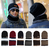 Hot Unisex Spring Beanie Hat Women MenKnit Scarf Cap Neck Warmer Winter Fleece Hats Outdoor Sport