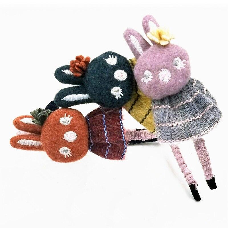 Cute Cartoon Kids Hair Equipment Headband Hairband Wholesale Beautiful Rabbit Flower Hair Band Head Hoop For Women Headdress
