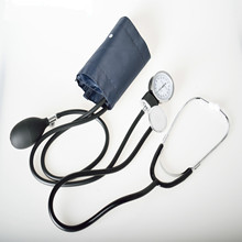 medical Blood Pressure Monitor Meter Tonometer Cuff Stethoscope Kit Travel Sphygmomanometer