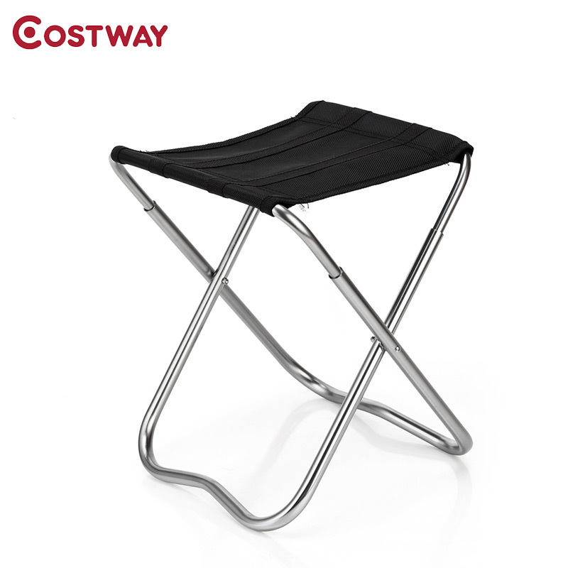 COSTWAY Ultra Light Outdoor Aluminum Stool Camping Folding Chair Oxford Cloth Fishing Chair Portable Beach Chair W0264 costway outdoor aluminum alloy backrest stool camping folding chair oxford cloth fishing chair portable beach chair w0263