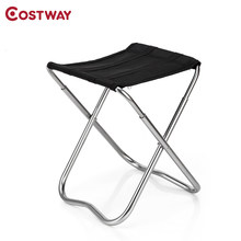 COSTWAY Ultra Light Outdoor Aluminum Stool Camping Folding Chair Oxford Cloth Fishing Chair Portable Beach Chair W0264(China)