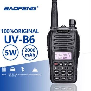 BaoFeng UV-B6 Portable Walkie Talkie 5W Long Range Two Way Radio Dual Band UHF VHF Interphone B6 Woki Toki FM Radio Transceiver 100% original uv b6 dual band vhf uhf 5w 99 channels two way radio baofeng portable uv b6