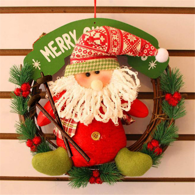 2017 Hot Christmas Decor Xmas Door Wreath Christmas Garland Party