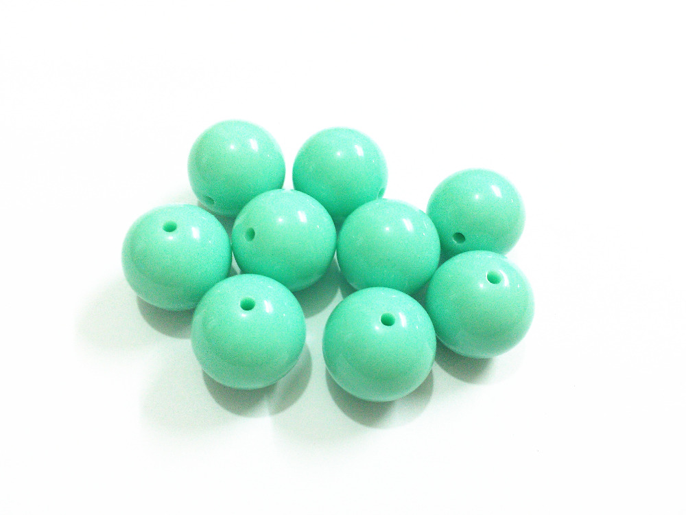 10 pieces 20mm mint green chunky bubblegum beads DIY baby necklaces