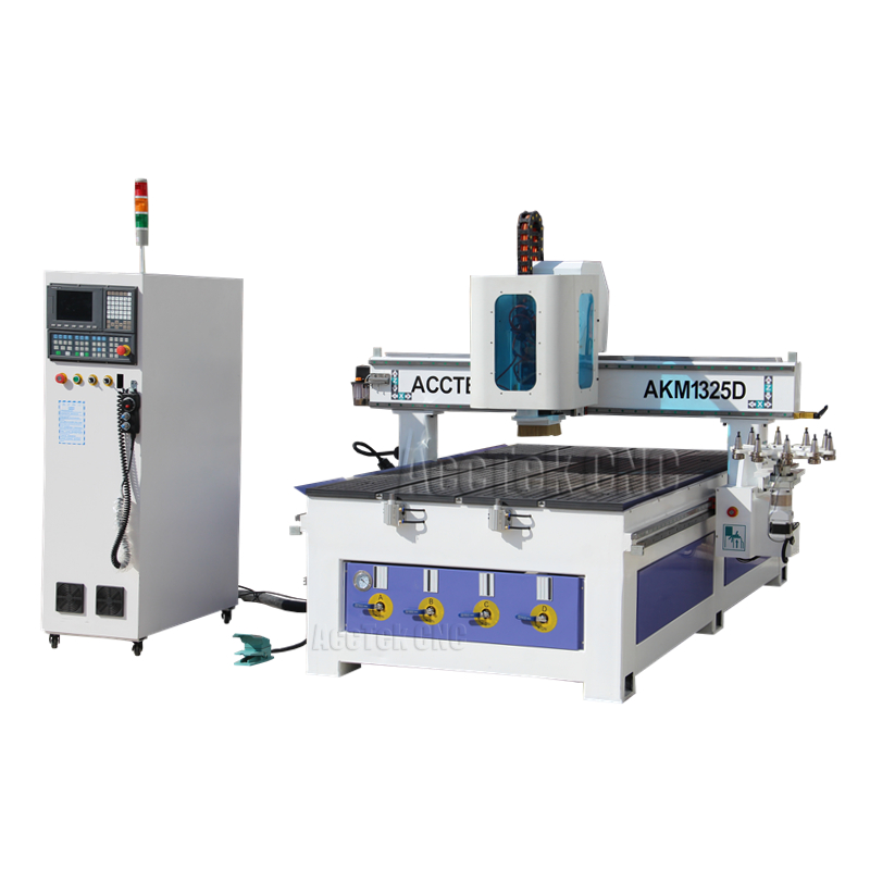 Automatic tool change 3d cnc router for wood stone engraving machine atc spindle
