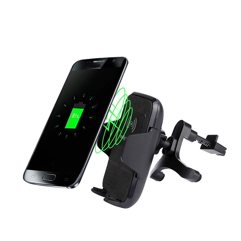 hot car mount wireless charger vehicle dock mobile cell. Black Bedroom Furniture Sets. Home Design Ideas