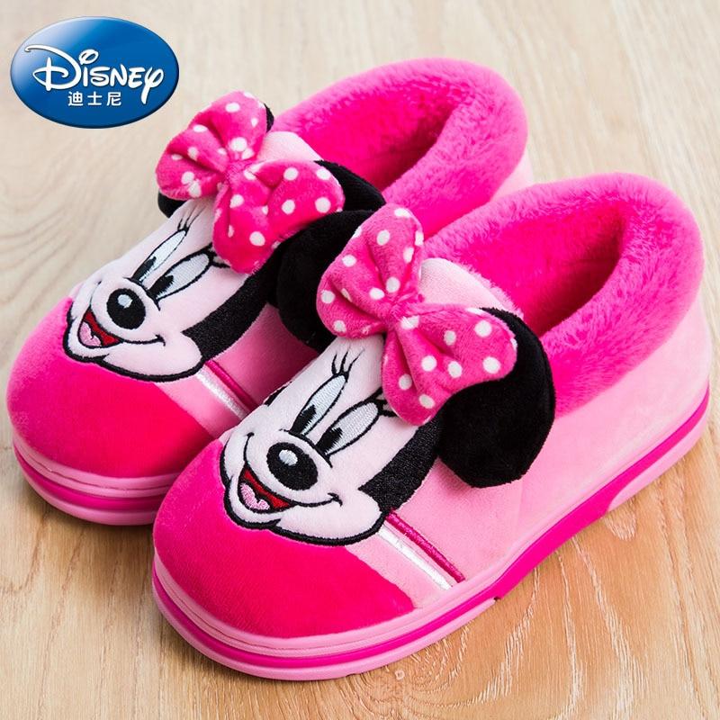 Disney Cartoon Baumwolle Mickey Hause Schuhe 2019 Neue Warme Kinder Schuhe Herbst Und Winter Tragen Nicht-slip Schuhe