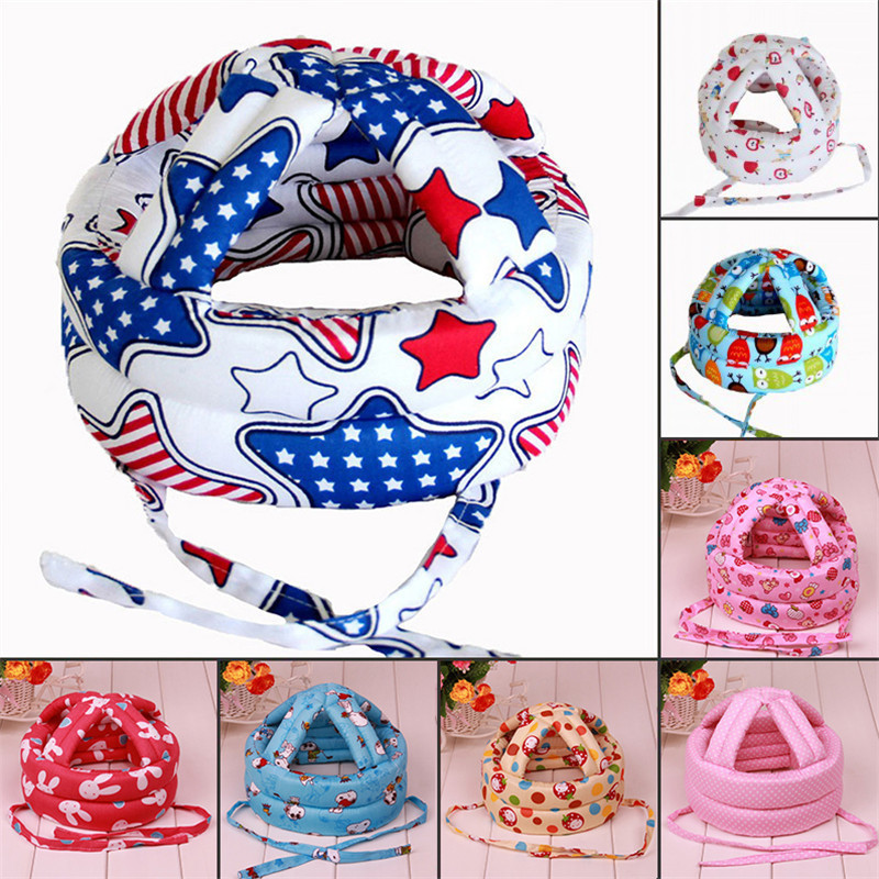 New Baby Safety Learn to Walk Cap Anti-collision Protective Hat Safety Helmet Soft Comfortable Head Security Protection baby противоскользящие полоски safety walk цвет серый 6 шт