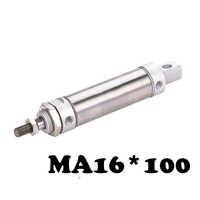 Mini cilindro de acero inoxidable MA 16*100 componente neumático de doble acción cilindro de aire MA 16*100