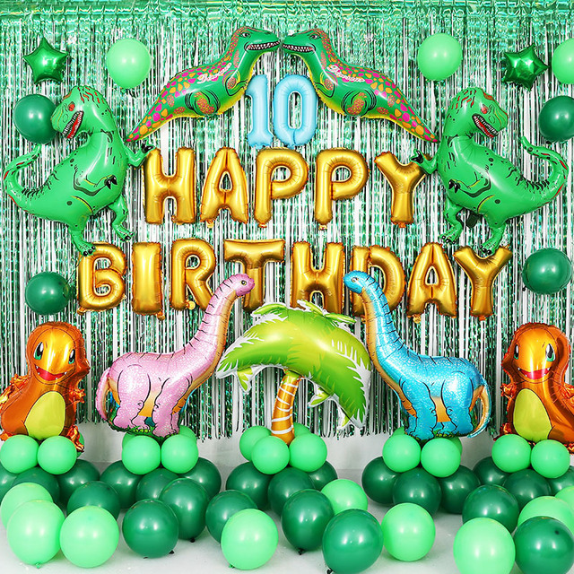 Birthday Dinosaur Balloon Baloons Party Decor Kids Jurassic World Inflateble