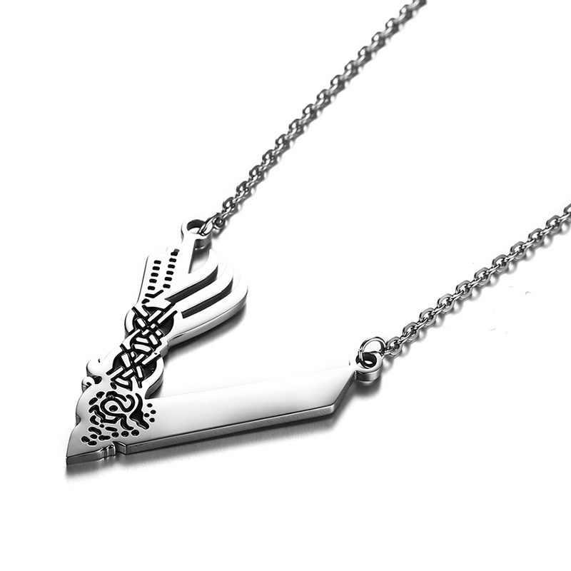 Mens Vikings Necklaces History Channel V Logo Symbol Unisex Jewellery  Stainless Steel Valknut Viking Warriors Norse Jewelry 24
