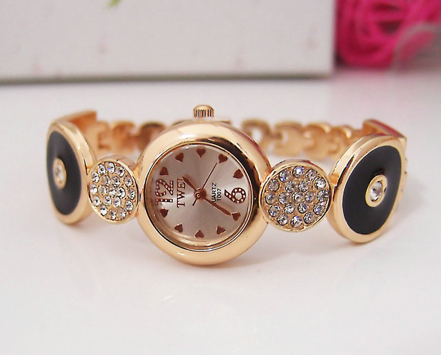 Hot Sale High Quality Rose Gold Tone Watch Women Ladies Fashion Crystal Dress Quartz Wrist Watch Relogio Feminino TW019 hot sale luxury crystal rose gold high quality leather quartz gift watch wristwatch for women ladies girls 1 year warrenty