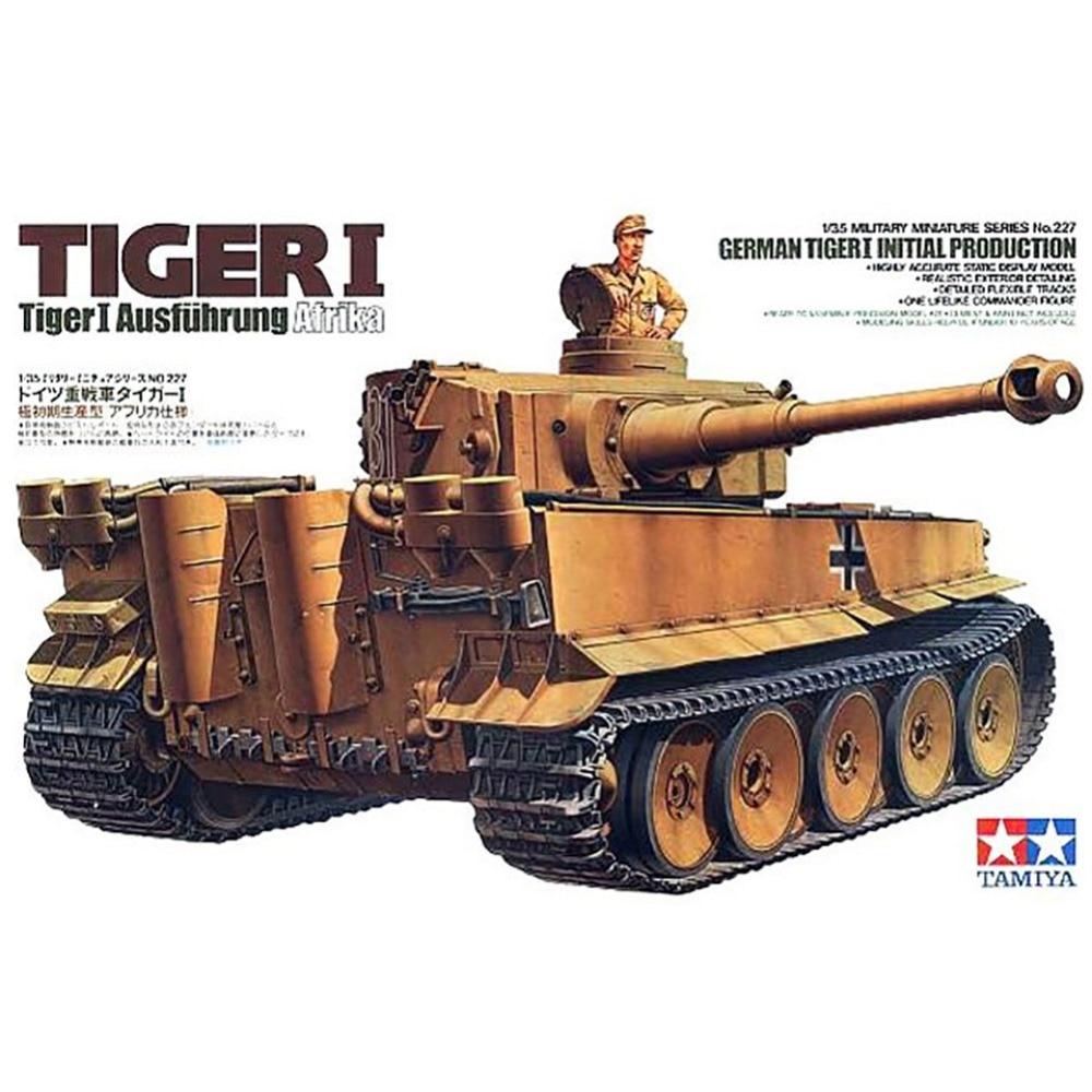 OHS Tamiya 35227 1/35 Tiger 1 Panzer Ausfuhrung Atrika Assembly AFV Model Building Kits G