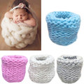 Newborn Photography Props Baby Photo Blanket Basket Knitting Braid Stuffer Eggshell Shape Knitted Baskets BM